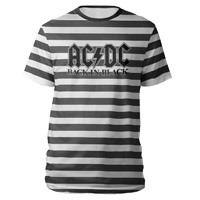 AC/DC Back in Black Striped T-Shirt