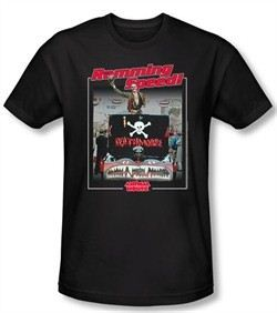 Animal House T-shirt Movie Ramming Speed Black Adult Slim Fit Shirt