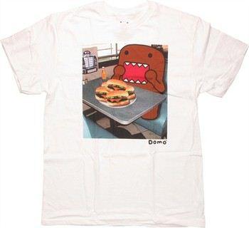 Domo-Kun Diner Platter of Burgers T-Shirt