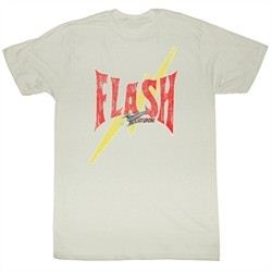Flash Gordon T-Shirt Movie Flash Bolt Adult Natural Tee Shirt