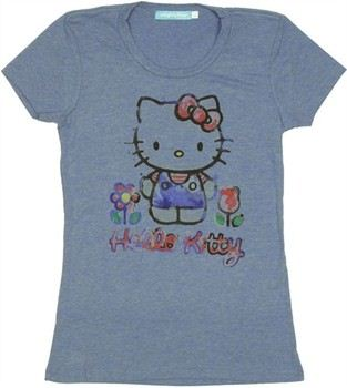 Hello Kitty Watercolor Paint Baby Doll Tee by MIGHTY FINE