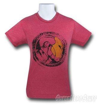 Iron Man Heather Red Burnout T-Shirt