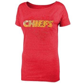 Kansas City Chiefs Juniors Unbreakable Love Boat Neck T-Shirt - Red