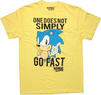 Sega Sonic the Hedgehog One Does Not Simply Go Fast T-Shirt