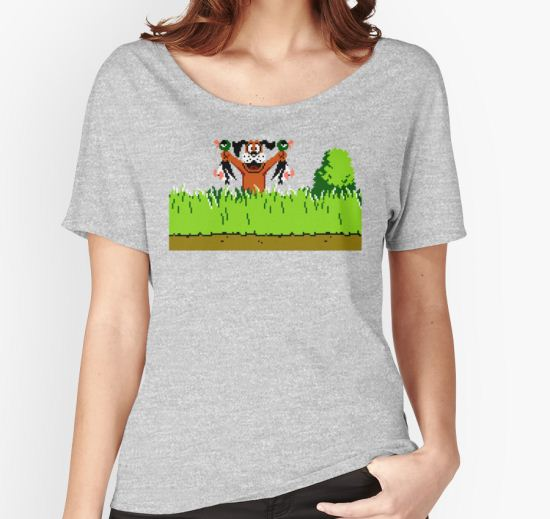 Duck Hunt Dog with 2 Ducks Women's Relaxed Fit T-Shirt by Funkymunkey T-Shirt