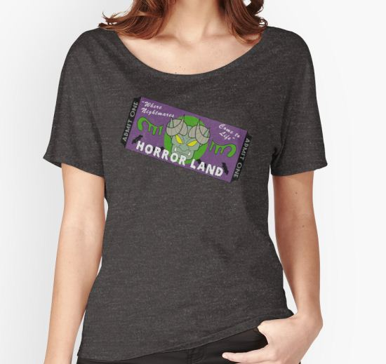 'Horrorland Ticket' Women's Relaxed Fit T-Shirt by itsaaudra T-Shirt