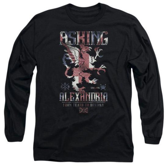 Asking Alexandria Long Sleeve Shirt From Death To Destiny Black Tee T-Shirt