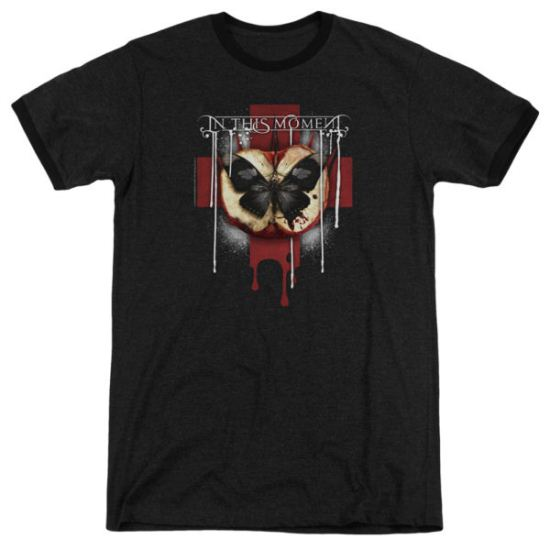 In This Moment ITM Rotten Apple Black Ringer Shirt