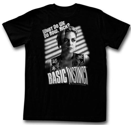 Basic Instinct Shirt Film Noir Adult Black Tee T-Shirt