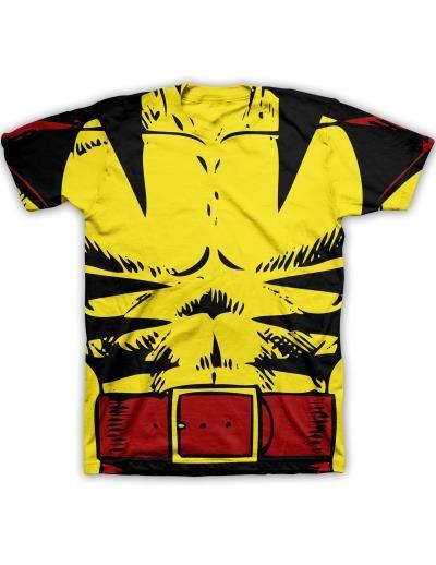 Marvel X-Men Wolverine Adult Yellow Costume T-Shirt