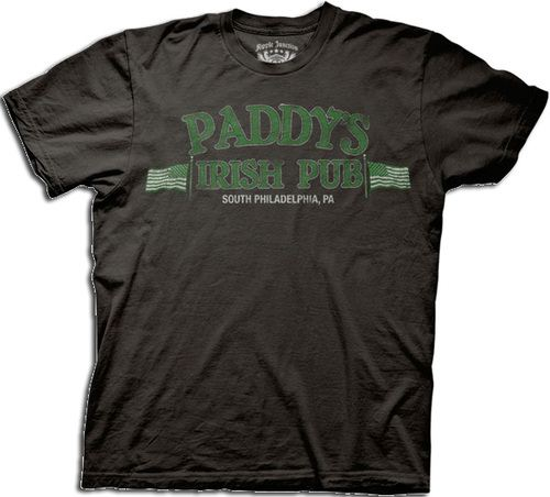 It's Always Sunny in Philadelphia Distressed Paddy's Irish Pub Black T-shirt