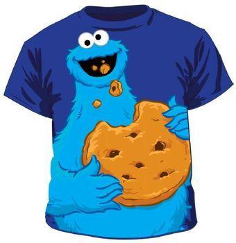 Sesame Street Jumbo Cookie Monster Eating T-shirt