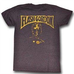 Flash Gordon Shirt Flash Bust Adult Heather Purple Tee T-Shirt