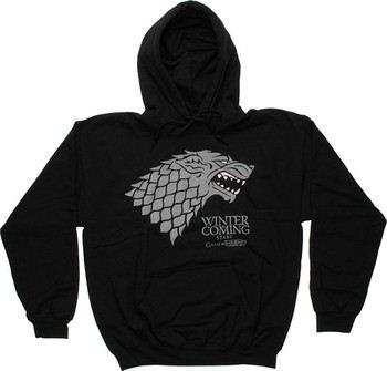 Game of Thrones Stark Direwolf Sigil Winter is Coming Pullover Hooded Sweatshirt