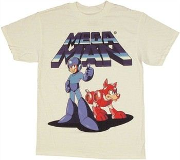 Mega Man with Dog Rush T-Shirt