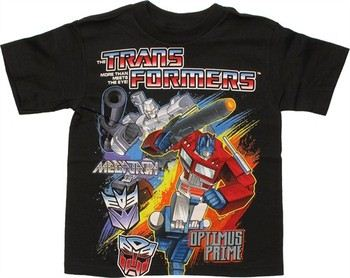 Transformers Megatron Optimus Prime Paint Lines Juvenile T-Shirt
