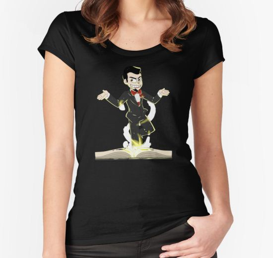 'Slappy the Living Dummy' Women's Fitted Scoop T-Shirt by itsaaudra T-Shirt