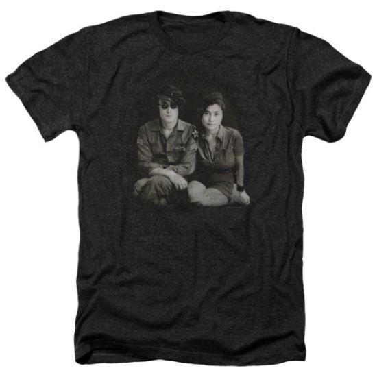 John Lennon Shirt Beret Heather Black Tee T-Shirt