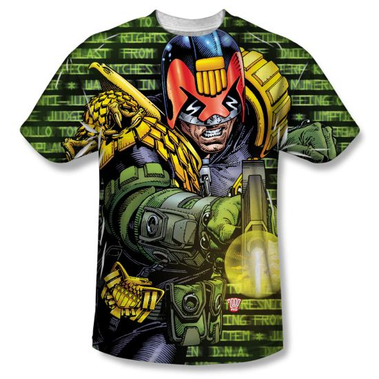 Judge Dredd Shirt Matrix Sublimation Shirt