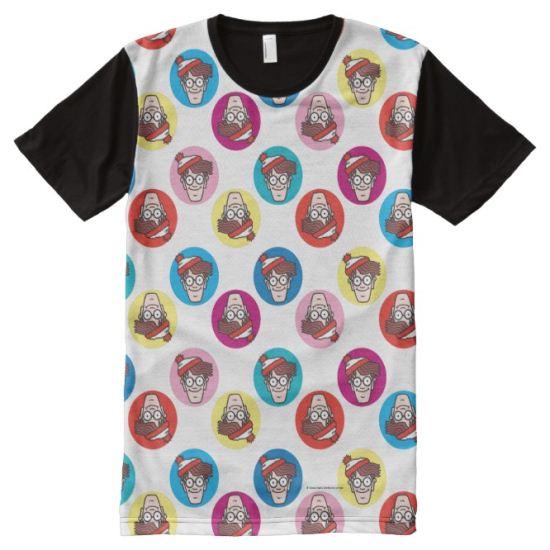 Where's Waldo Fun Circle Pattern All-Over Print Shirt