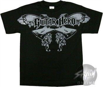 Guitar Hero Double Axe Logo Youth T-Shirt