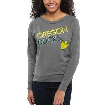 Oregon Ducks Women's Crazy Love Boat Neck Long Sleeve T-Shirt – Charcoal