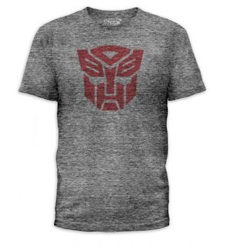Transformers Autobots Logo Heather Gray T-Shirt