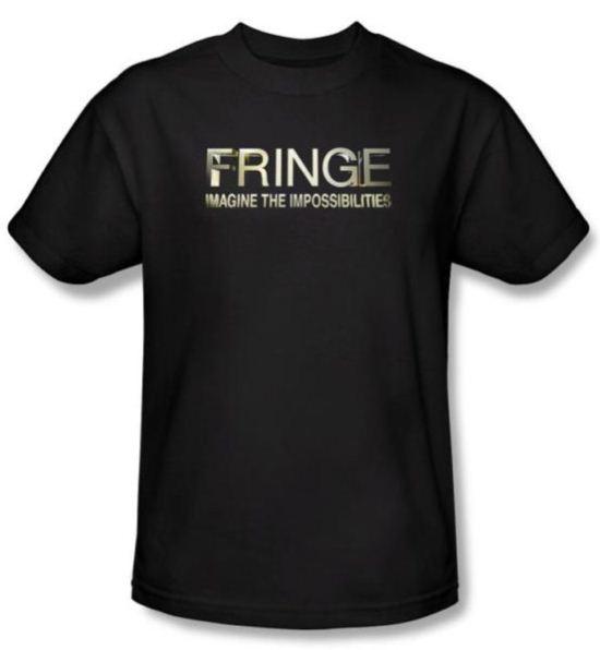 Fringe Kids T-shirt TV Show Logo Black Tee Shirt Youth