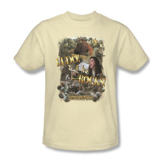 Labyrinth Shirt Call The Rocks Adult Cream Tee T-Shirt