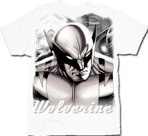 X-Men Wolverine Robot Assasin White T-Shirt