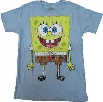 Spongebob Squarepants Vintage Full T-Shirt Sheer