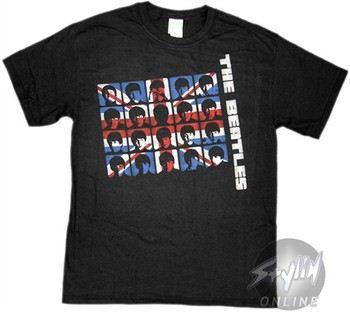 Beatles British Flag T-Shirt