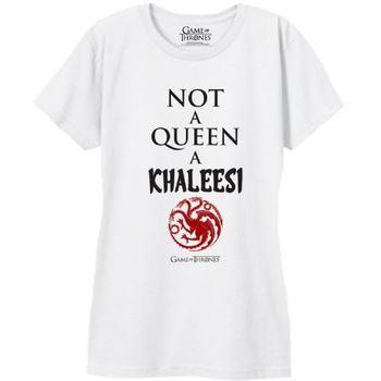 Game of Thrones Not a Queen A Khaleesi Juniors White T-Shirt