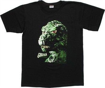 Godzilla Face Black T-Shirt