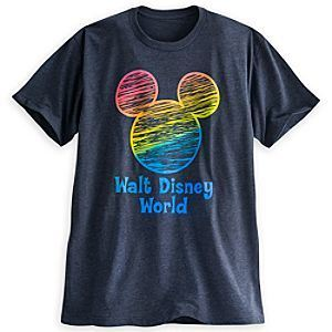 6ab7f8dbdeb ... Mickey Mouse Icon Rainbow Tee for Adults - Gray