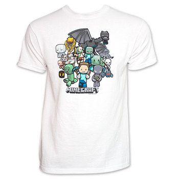 Party Minecraft Tee Shirt White
