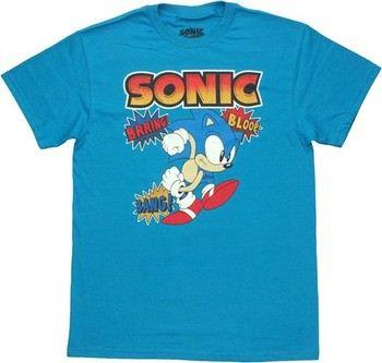 Sega Sonic the Hedgehog Comic Sounds T-Shirt