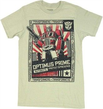 Transformers Optimus Prime Autobots Protect and Preserve T-Shirt Sheer