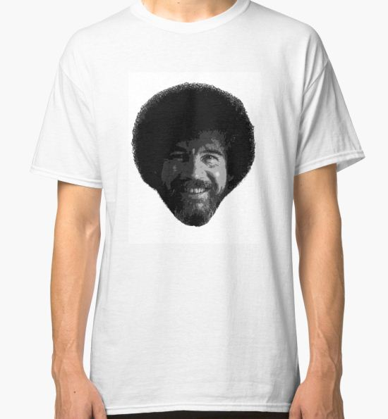 57058a1d325 ...  Bob Ross  Classic T-Shirt by mikecoole T-Shirt.