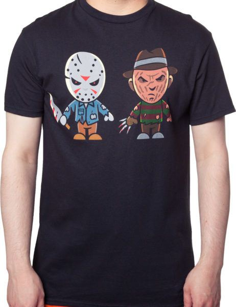 Jason Voorhees and Freddy Krueger Cartoon T-Shirt