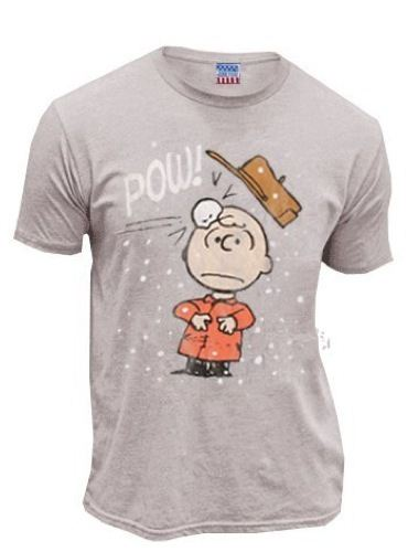 Peanuts Charlie Brown Pow Concrete T-shirt