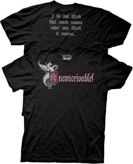 The Princess Bride Inconceivable Black T-shirt