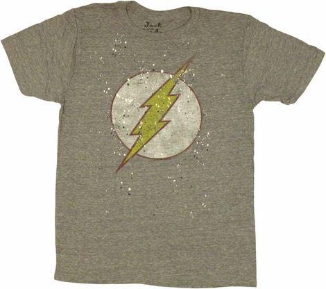 Flash Logo Splatter Paint T Shirt Sheer