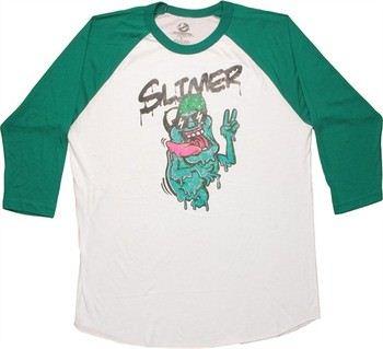 Ghostbusters Slimer Peace Raglan T-Shirt Sheer