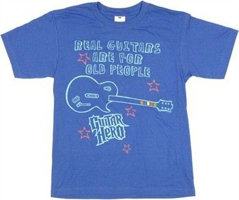 Guitar Hero Real Guitars are for Old People Youth T-Shirt