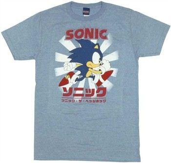 Sonic the Hedgehog Classic Kanji Cover T-Shirt Sheer