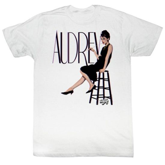 Audrey Hepburn Shirt In 3D White Tee T-Shirt