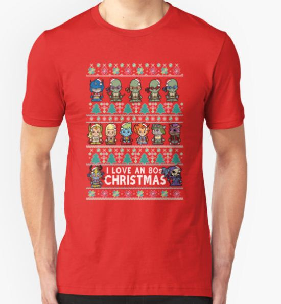 Lil 80s Cartoon Christmas Jumper T-Shirt by TopNotchy T-Shirt