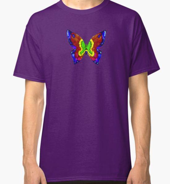 nick mason butterfly tee Classic T-Shirt by dollymod T-Shirt