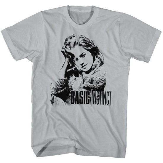 Basic Instinct Shirt Portrait Silver T-Shirt